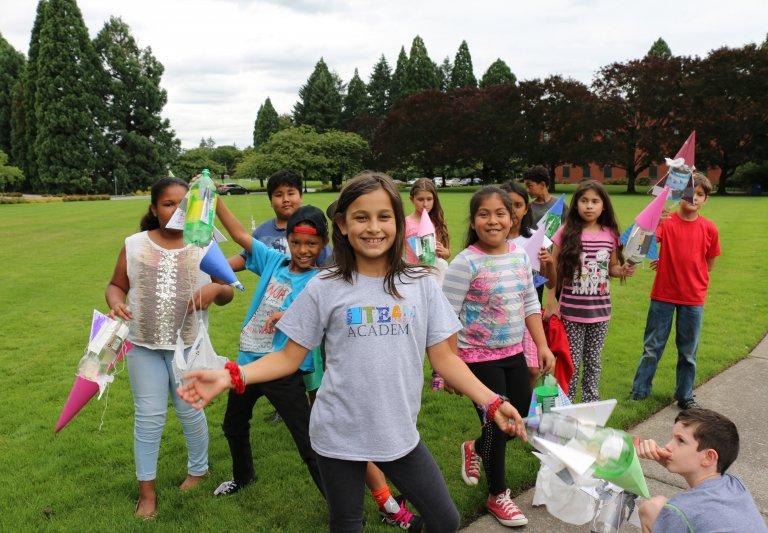 Children smiling & having fun at Saturday Academy's camp