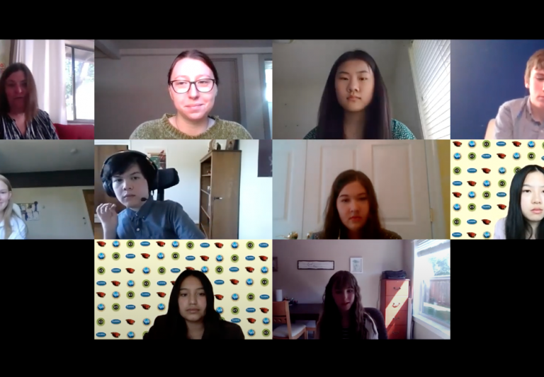 Screenshot from the online ASE Symposium with interns presenting their work