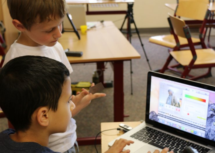 Saturday Academy students learning how to make stop motion animation
