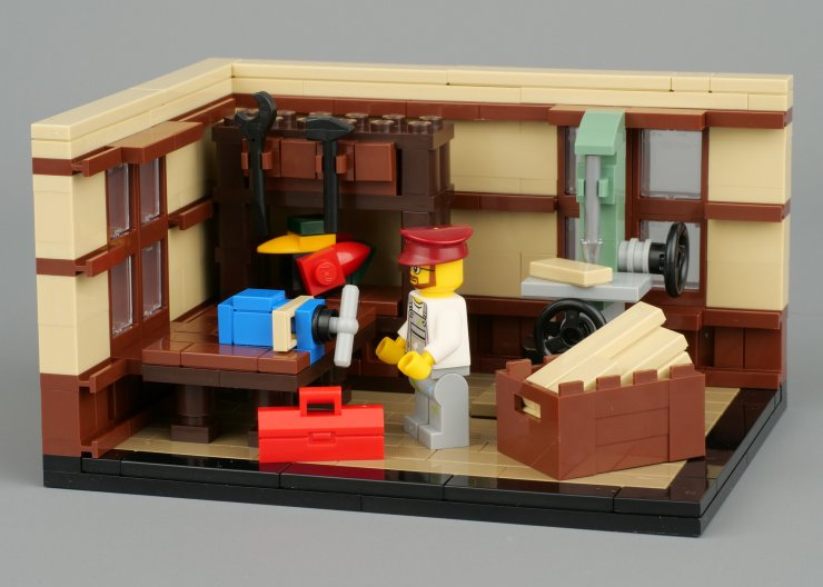 LEGO scene for comic building