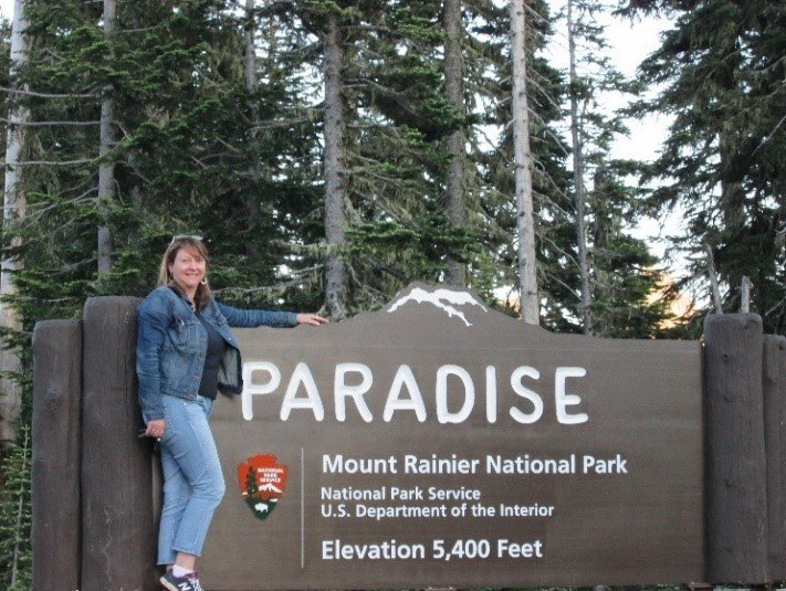 Laura at Mount Rainier National Park
