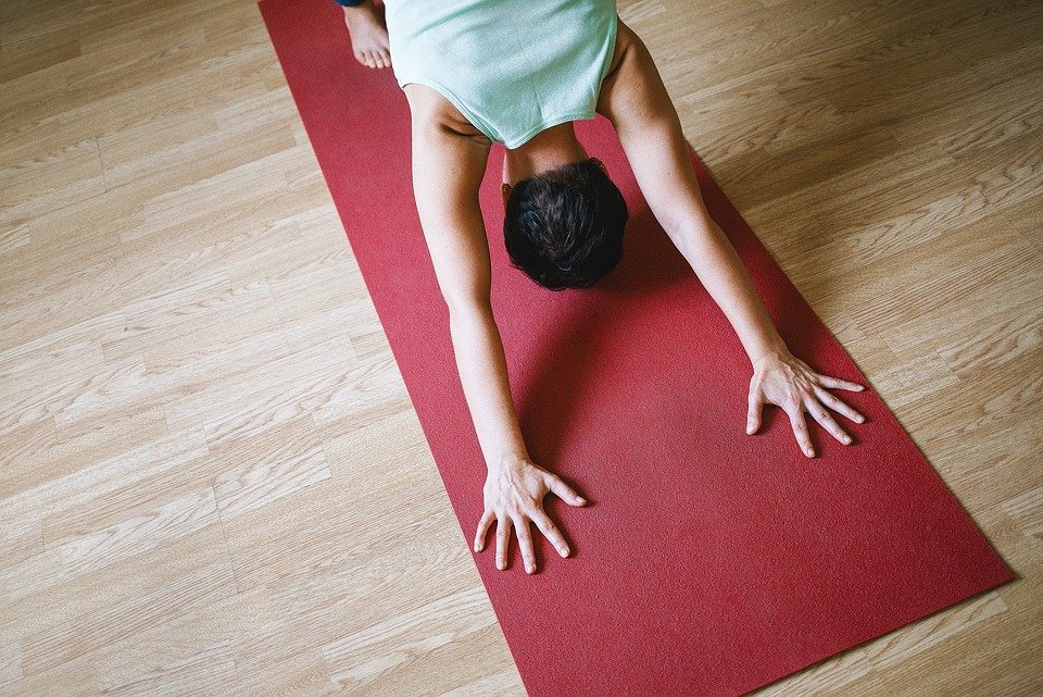 Saturday Academy student practicing yoga