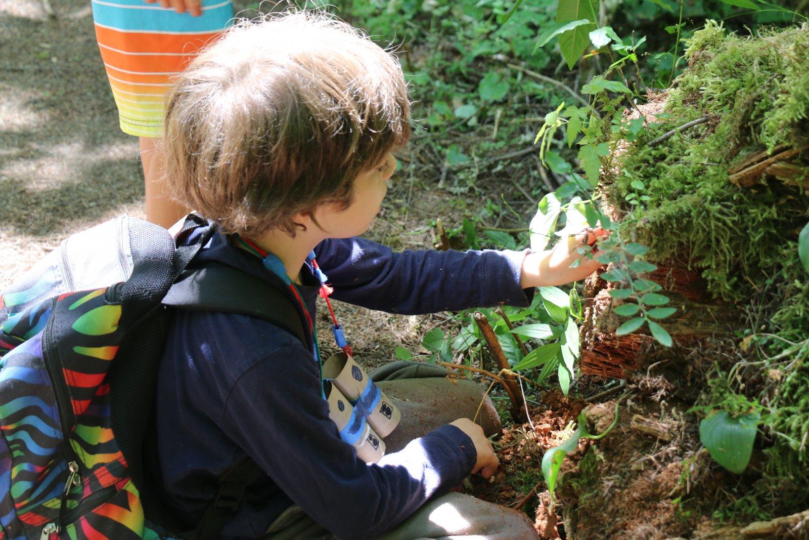 Boy making a bird's nest in Saturday Academy class