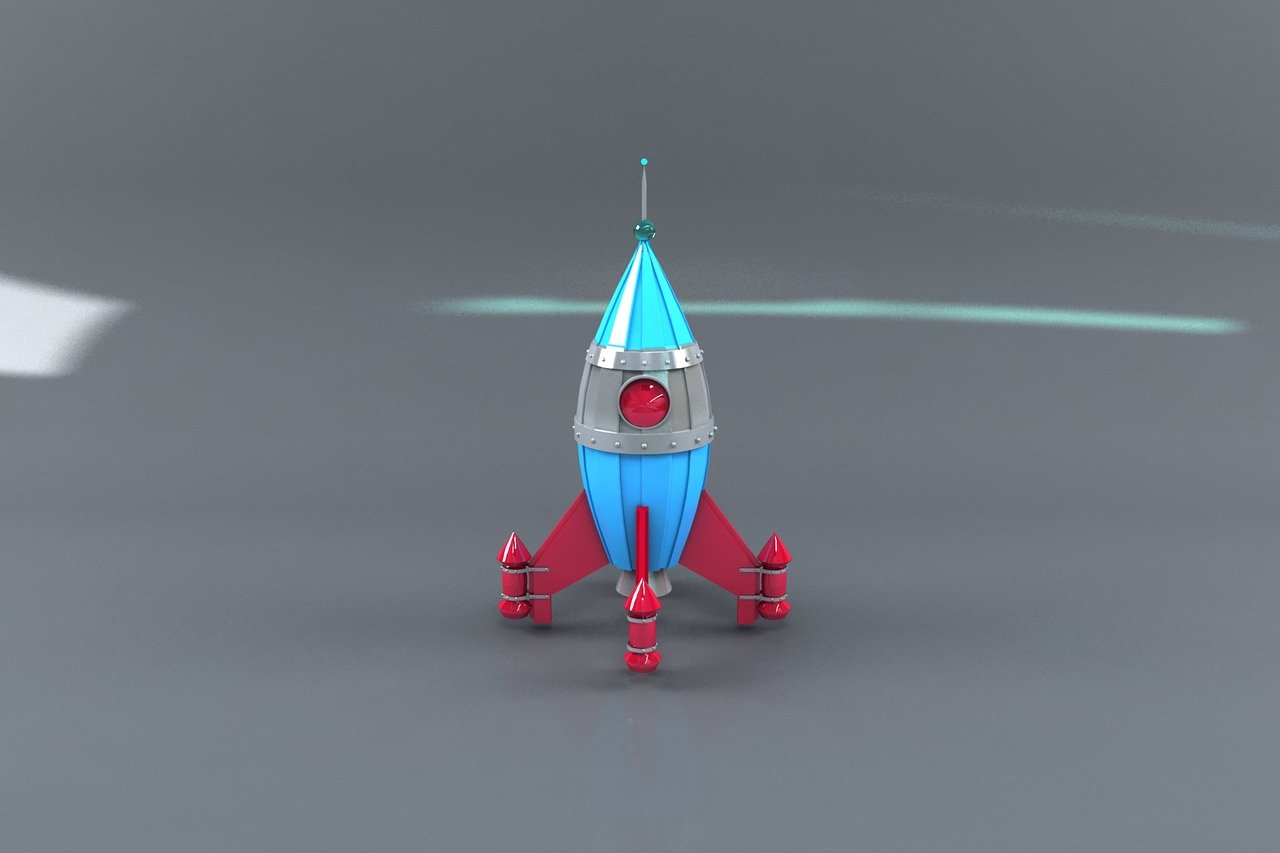 3D model of a space rocket